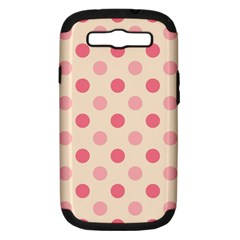 Pale Pink Polka Dots Samsung Galaxy S III Hardshell Case (PC+Silicone)