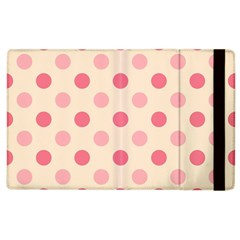 Pale Pink Polka Dots Apple iPad 2 Flip Case