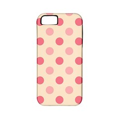Pale Pink Polka Dots Apple Iphone 5 Classic Hardshell Case (pc+silicone)
