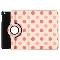 Pale Pink Polka Dots Apple iPad Mini Flip 360 Case