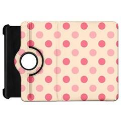 Pale Pink Polka Dots Kindle Fire Hd 7  (1st Gen) Flip 360 Case