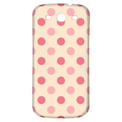 Pale Pink Polka Dots Samsung Galaxy S3 S III Classic Hardshell Back Case