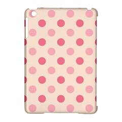 Pale Pink Polka Dots Apple iPad Mini Hardshell Case (Compatible with Smart Cover)