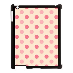 Pale Pink Polka Dots Apple iPad 3/4 Case (Black)