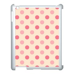 Pale Pink Polka Dots Apple Ipad 3/4 Case (white)
