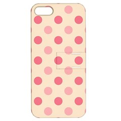 Pale Pink Polka Dots Apple Iphone 5 Hardshell Case With Stand