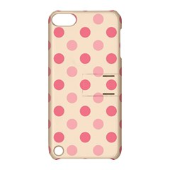 Pale Pink Polka Dots Apple iPod Touch 5 Hardshell Case with Stand
