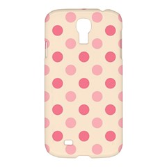 Pale Pink Polka Dots Samsung Galaxy S4 I9500/I9505 Hardshell Case