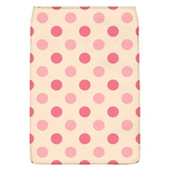Pale Pink Polka Dots Removable Flap Cover (large)