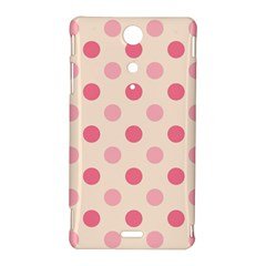 Pale Pink Polka Dots Sony Xperia TX Hardshell Case