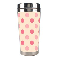 Pale Pink Polka Dots Stainless Steel Travel Tumbler