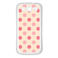 Pale Pink Polka Dots Samsung Galaxy S3 Back Case (White)