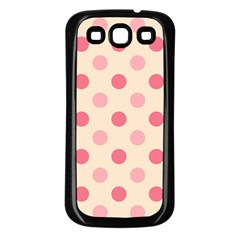 Pale Pink Polka Dots Samsung Galaxy S3 Back Case (black)