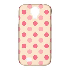 Pale Pink Polka Dots Samsung Galaxy S4 Classic Hardshell Case (PC+Silicone)