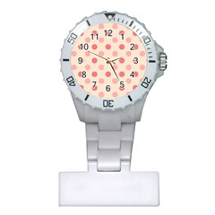 Pale Pink Polka Dots Nurses Watch