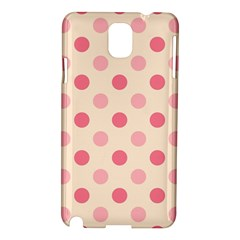 Pale Pink Polka Dots Samsung Galaxy Note 3 N9005 Hardshell Case
