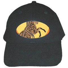 Embracing The Moon Black Baseball Cap