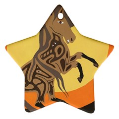 Embracing The Moon Star Ornament
