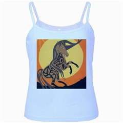 Embracing The Moon Baby Blue Spaghetti Tank