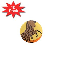 Embracing The Moon 1  Mini Button Magnet (10 Pack)