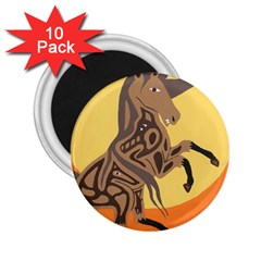 Embracing The Moon 2.25  Button Magnet (10 pack)