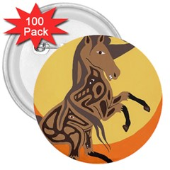 Embracing The Moon 3  Button (100 pack)