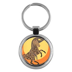 Embracing The Moon Key Chain (Round)