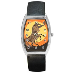 Embracing The Moon Tonneau Leather Watch