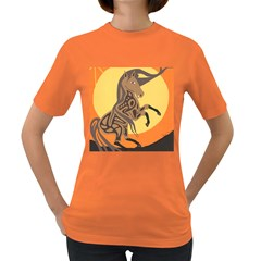 Embracing The Moon Women s T-shirt (Colored)