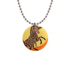Embracing The Moon Button Necklace