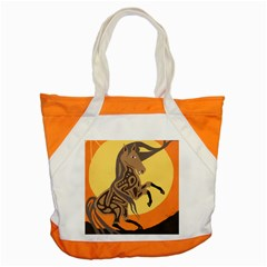 Embracing The Moon Accent Tote Bag