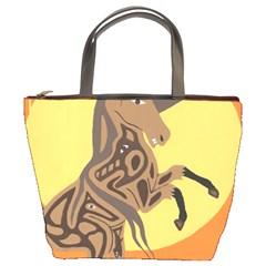 Embracing The Moon Bucket Handbag