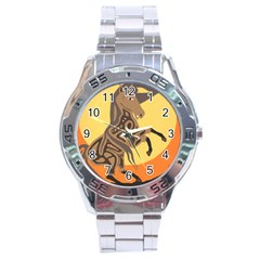 Embracing The Moon Stainless Steel Watch