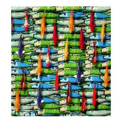 Tiny Fish Shower Curtain 66  X 72  (large)