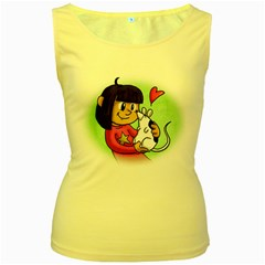 Bookcover  Copy Women s Tank Top (yellow)