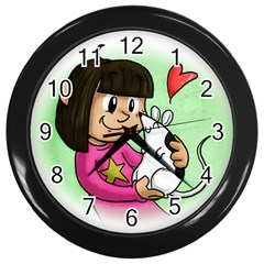 Bookcover  Copy Wall Clock (Black)