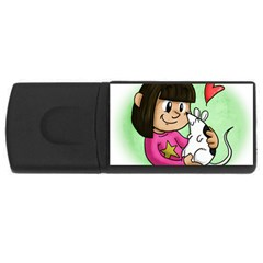 Bookcover  Copy 4GB USB Flash Drive (Rectangle)