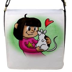 Bookcover  Copy Flap Closure Messenger Bag (Small)