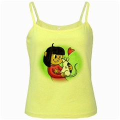 Bookcover  Copy Yellow Spaghetti Tank