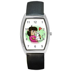 Bookcover  Copy Tonneau Leather Watch