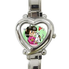 Bookcover  Copy Heart Italian Charm Watch