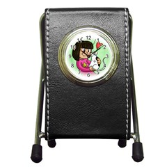 Bookcover  Copy Stationery Holder Clock