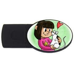 Bookcover  Copy 4GB USB Flash Drive (Oval)