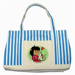Bookcover  Copy Blue Striped Tote Bag