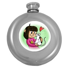 Bookcover  Copy Hip Flask (Round)