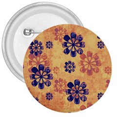 Funky Floral Art 3  Button