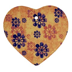 Funky Floral Art Heart Ornament