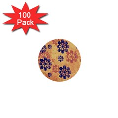 Funky Floral Art 1  Mini Button (100 Pack)
