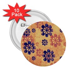 Funky Floral Art 2.25  Button (10 pack)