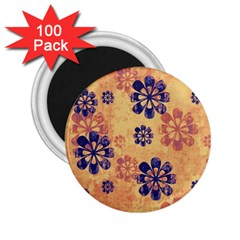 Funky Floral Art 2.25  Button Magnet (100 pack)